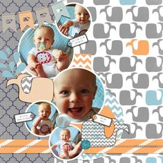8 Months!  Using Boy Things Collection and Things That SPLASH! by Sarah Sullivan of Little Birdie Digital Designs available at Etsy.
