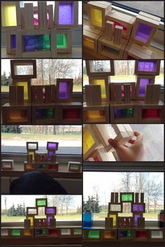 Via @chapmanKs playing with symmetry of shape & DIY window blocks in natural light.