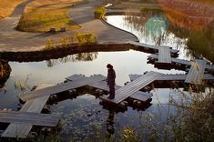 "Some day when our boardwalk in our wetlands gives out...this is what I want to replace it.  ""Anjo, Japan"""