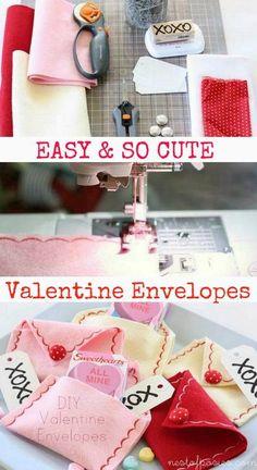 These Valentine envelopes are adorable!!! DIY Valentine Envelopes @nestofposies