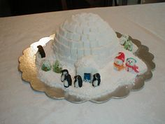 Igloo instead of a gingerbread house. An allergy friendly alternative to the classic.  The party is more fun when everyone gets to join in!