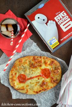 "Kitchen Concoctions: Dinner and a Movie: Big Hero 6 and Four Cheese ""Baymax"" Pizza 6th Birthday Parties, Girl Birthday, Birthday Ideas, Baymax, Movie Themes, Movie Ideas, Disney Dinner, Dinner And A Movie, Big Hero 6"
