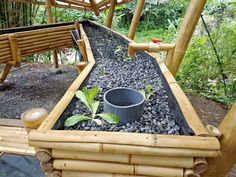 Green School's Aquaponics system. Created by Ibuku Gardens.