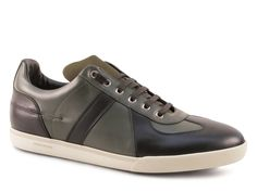 Dior mens sneakers in black and kaki leather - Italian Boutique €364