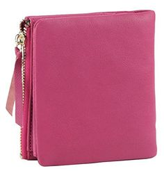 New Trending Purses: ETIAL Womens Lambskin Leather Small Bifold Wallet Zip Coin Purse Hot Pink. ETIAL Womens Lambskin Leather Small Bifold Wallet Zip Coin Purse Hot Pink  Special Offer: $12.99  200 Reviews ETIAL lambskin leather small wallet made of real leather lambskin, very soft and lightweight. It's a bifold wallet with snap shut, a zipper pocket on the side for coins...