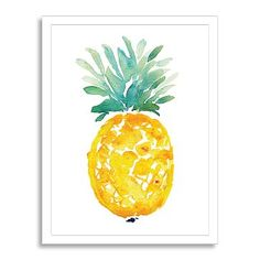 Minted for West Elm - Ananas watercolor inspiration West Elm, Pineapple Painting, Pineapple Art, Wall Art Prints, Fine Art Prints, Contemporary Wall Art, Contemporary Furniture, Modern Art, Hanging Wall Art