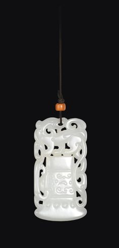 (Qing dynasty) A white Jade Phoenix 'Axe-Head' plaque. Qing dynasty, China. ca 18th century