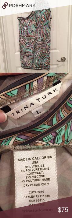 Trina Turk one shoulder dress size L Trina Turk one shoulder dress size L Trina Turk Dresses Midi