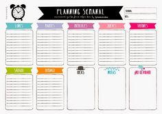 organizador planning semanal - Dibucos