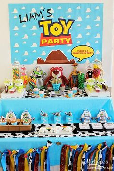 """""""You've Got a Friend in Me"""" Toy Story Party with Lots of Really Cute Ideas via Kara's Party Ideas 