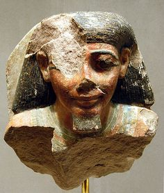 Male Bust from a Pair Statue Dynasty 18,-Thutmose I-Thutmose III Egypt Metropolitan Museum of Art NY