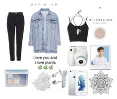 """Minimlast"" by callievick10 ❤ liked on Polyvore featuring Topshop, Pull&Bear, Too Faced Cosmetics, Anastasia Beverly Hills, Lanvin, Polaroid, McCoy Design and Rock 'N Rose"