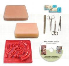 Student suturing kit Includes tissue models, instruments, and instruction