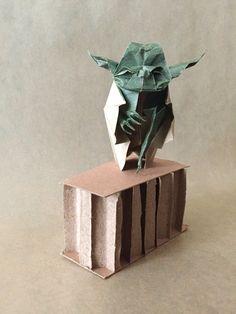 Origami Jedi Master Yoda Designed by Origami Yoda, Origami Art, Paper Folding, My Works, Starwars, Art Work, Paper Art, Design, Crates