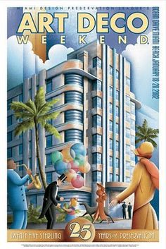 Miami Beach: Art Deco Miami South Beach >> See the Deals! Miami Art Deco, Poster Art, Kunst Poster, Art Deco Posters, Art Deco Illustration, Art Nouveau, Colores Art Deco, Pinturas Art Deco, Vintage Art