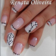 Cross Nail Designs, Cute Nail Art Designs, Toe Nail Designs, Pink Acrylic Nails, Shellac Nails, Nail Manicure, Nails Only, Love Nails, Pretty Nails