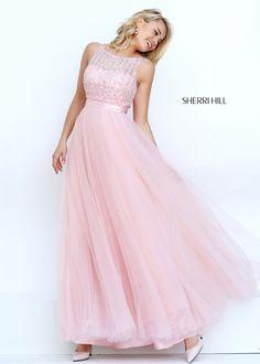 2016 Sherri Hill 50258 Glitzy Illusion Beaded Prom Dress
