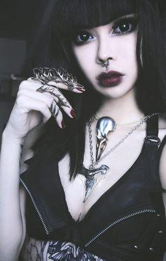 Jungle Tribe LA - Wylona Hayashi wearing our silver spike gloves and. Goth Girl Costume, Girl Costumes, Steampunk, Death Metal, Dark Fashion, Gothic Fashion, Cyberpunk, Rockabilly, Grunge