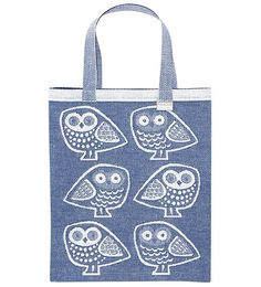 Pöllö, Lapuan Kankurit, design by Marja Rautiainen. Owls are awesome Soft Furnishings, Owls, Reusable Tote Bags, Textiles, Chic, Stylish, Awesome, House, Design