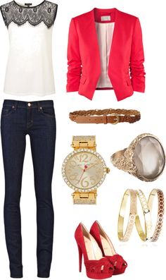 """Smart Casual"" by purrrplelove on Polyvore"