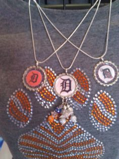 Tigers Fan!  Attend a game in style.  I can customize any shirt to fit your school colors and mascot! Contact me for details tonisjewelryboutique@yahoo.com