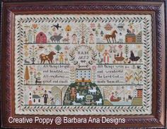 <b>All Creatures Great and Small</b><br/>cross stitch pattern<br/>by <b>Barbara Ana Designs</b>