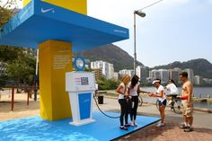 Rehydration booth with Nike