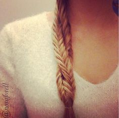 Double Fishtail Twist! All you gotta do is make to fishtail braids and twist them! :)))
