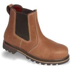 234bf5f656b0a0 V1241 Vintage Brown Leather Safety Dealer Boots Vintage Leather, Dealer  Boots, Brown Leather,