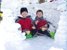 Build a snow fort. . . and enjoy it!