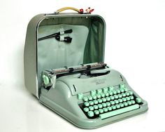 Hey, I found this really awesome Etsy listing at https://www.etsy.com/listing/205379462/mid-century-hermes-3000-typewriter-sea