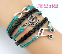To Infinity and Beyond Infinity charm Bracelet by LittleElleBelle, $4.99