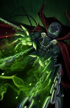Spawn by on DeviantArt Spawn Comics, Anime Comics, Dark Comics, Image Comics, Comic Book Characters, Comic Character, Service Secret, Jobs In Art, Marvel Vs