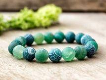 Zöld achát ásvány karkötő Beaded Bracelets, Jewelry, Accessories, Fashion, Jewerly, Moda, Jewlery, Fashion Styles, Pearl Bracelets