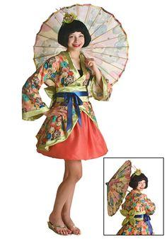 Tween Jade Geisha costume #Teen #Halloween