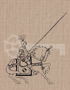 Knight on Horse digital download Image No.483 by TanglesGraphics, $1.00