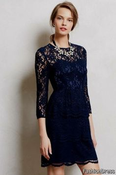 Awesome navy blue lace dress 2017-2018 Check more at http://24myfashion.com/2016/navy-blue-lace-dress-2017-2018/