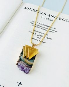 Tove Amethyst Triangle Necklace Triangle Necklace, Vintage Jewellery,  Amethyst, Jewelry Necklaces, Magpie dcb27441c436