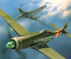 24th April 1945: Willi Reschke's Ta 152H (JG 301 bands on the rear fuselage) downs a Yak-9 near Berlin, one of two that he shot down on the day. Reschke flew about 70 missions during his career in which he recorded 27 victories, all over the Western Front, including 20 four-engine bombers. He was shot down 8 times, bailing out five times, and was wounded once. Reschke died in July 2017 at the age of 95.
