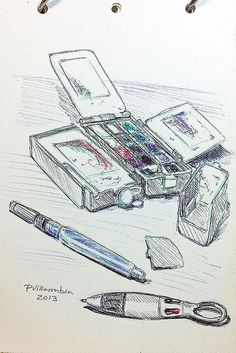 Útiles de dibujo by pvillarrubia, via Flickr