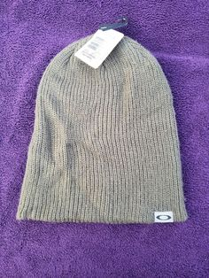 3a1ae336253 Oakley Green Winter Barrow Beanie Cap Hat new  fashion  clothing  shoes   accessories
