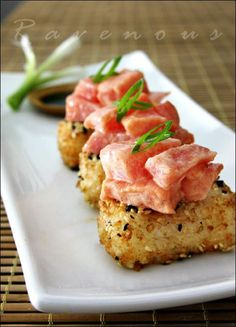 Spicy Tuna with Crispy Rice...this looks like a lot of work, but it also looks like it would be well worth it!