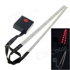 Outdoor Bicycle 14-LED 3-Mode Red Laser Spoke Light Set - White  (2 x AAA / 2 PCS) Price: $10.18