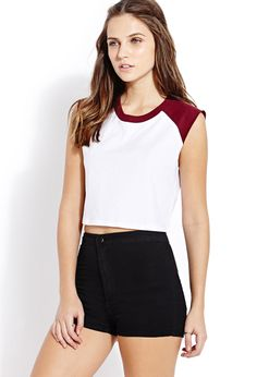 Sporty Colorblocked Crop Top | FOREVER21 - 2000090841