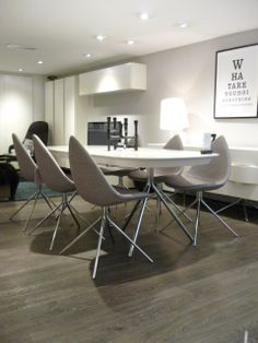 Karim Rashid Designed Ottawa Collection Dining Chairs Extendable Table And Sideboard Available In