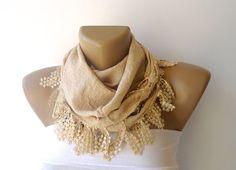 beige scarf  2013 fashion scarf for spring summer  women by seno