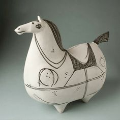 Vintage Stig Lindberg fat horse; Four and Twenty: Junk Love: It's a Zoo Out There