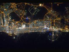Nighttime in Dubai.