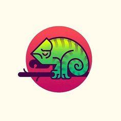 Logo inspiration: Chameleon design made by @nickkumbari Hire quality logo and branding designers at Twine. Twine can help you get a logo, logo design, logo designer, graphic design, graphic designer, emblem, startup logo, business logo, company logo, branding, branding designer, branding identity, design inspiration, brandinginspiration and more.