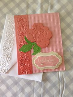Used Anna Griffin Dies and embossing folders